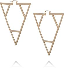 Pamela Love Bronze Triangle Earrings - Lyst