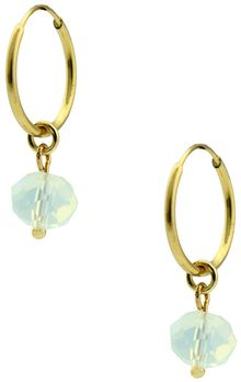Ziba White Tonal Facet Opal Bead Earrings - Lyst