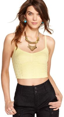 Free People Sleeveless Sweetheart Eyelet Bustier Cropped Tank - Lyst