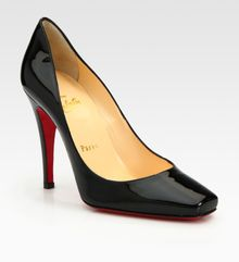 Christian Louboutin Patent Leather Pumps - Lyst