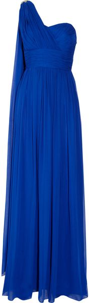 Notte By Marchesa Oneshoulder Silk Gown - Lyst