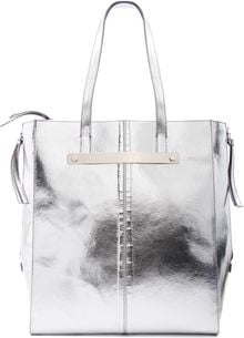 Mango Touch Silver Shopper Handbag - Lyst