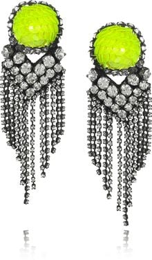 Shourouk E Vegas Crystal and Sequin Earrings - Lyst