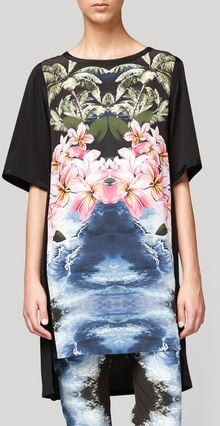 Stella McCartney Multicolour Tiered Hawaiian Print Dress - Lyst