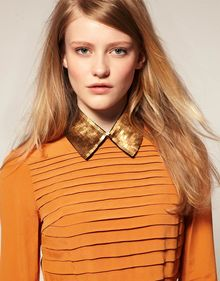 ASOS Collection Asos Gold Sequin Collar - Lyst