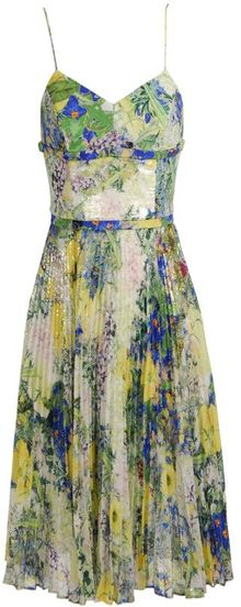 Erdem Inga Floral Printed and Sequin Embellished Dress - Lyst