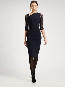 Oscar de la Renta Asymmetric Lace Dress - Lyst