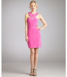 Hoaglund New York Lipstick Pink Silk Cutout Dress - Lyst
