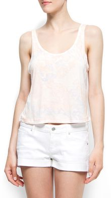 Mango Scribble Cropped Top - Lyst