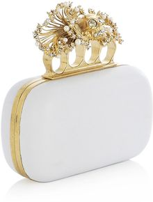 Alexander McQueen Anemone Knuckleduster Clutch Bag - Lyst