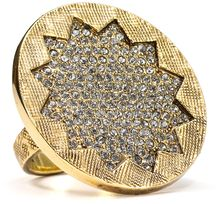 House Of Harlow 14kt Plated Sunbrust Pave Ring - Lyst