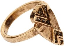 House Of Harlow  Gold Haematite Oave Ring - Lyst