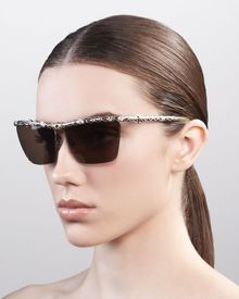 Lanvin Crystallized Snakeprint Sunglasses - Lyst