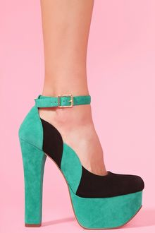 Nasty Gal Salena Platform Colorblock - Lyst