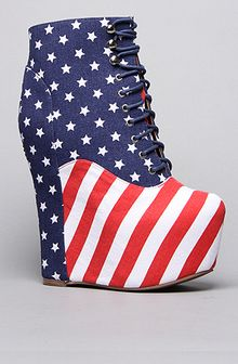 Jeffrey Campbell The Damsel Shoe in Stars and Stripes - Lyst