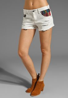 Free People White Baja Short - Lyst