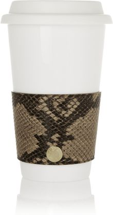 Jimmy Choo Rika Croc-Effect Leather Coffee Cup Sleeve - Lyst