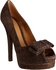 Fendi Bow Peep Toe Pump - Lyst