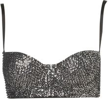 Topshop Beaded Sequin Balcony Bra - Lyst