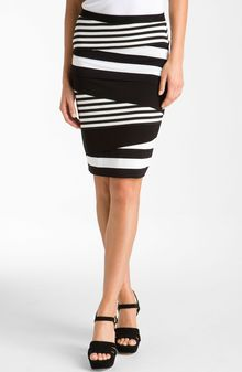 Vince Camuto Tiered Stripe Skirt - Lyst