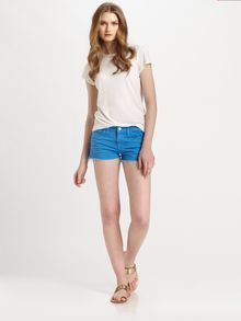 J Brand Lowrise Denim Cutoff Shorts - Lyst