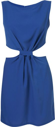 Topshop Cut Out Dress By Love - Lyst
