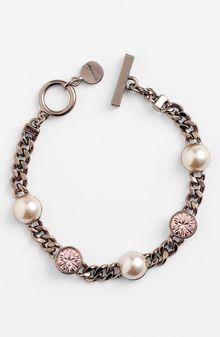Givenchy Station Pearl Toggle Bracelet - Lyst