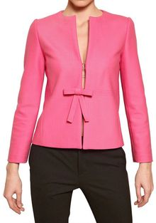 RED Valentino Structured Wool Bow Jacket - Lyst