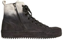 Ann Demeulemeester Degrade Waxed Suede High Top Sneakers - Lyst
