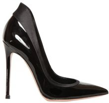 Gianvito Rossi 110mm Metallic Calfskin and Satin Pumps - Lyst