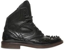 Givenchy Beaded Sneaker Style Leather Low Boots - Lyst