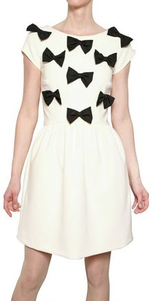 MSGM Techno Stretch Alpaca Dress with Bows - Lyst