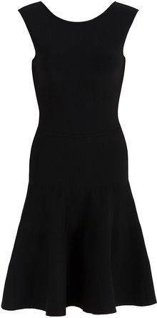 Issa Stretch Ribbed V Back Dress - Lyst
