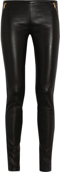 Emilio Pucci Stretch Leather Skinny Pants - Lyst