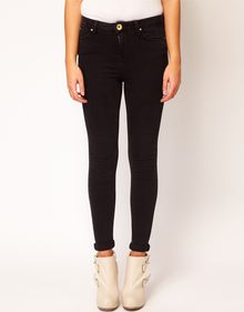 River Island Lana High Waist Jean in Black Denim - Lyst