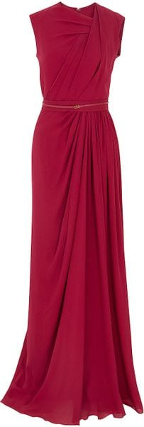 Elie Saab Gathered Front Gown - Lyst