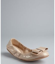 Prada Powder Patent Leather Large Bow Ballet Flats - Lyst