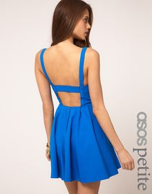Asos Strappy Skater Dress - Lyst