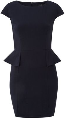 Ax Paris Ax Paris Peplum Cap Sleeve Dress - Lyst