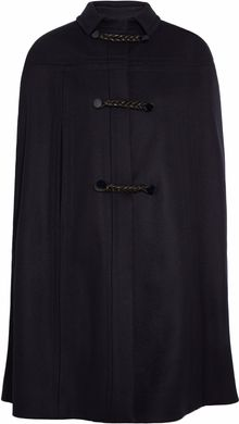 Valentino Leather toggled Wool felt Cape - Lyst