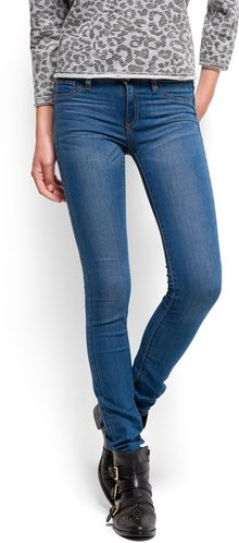 Mango Washed Effect Skinny Jeans - Lyst