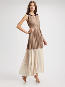 BCBGMAXAZRIA Adelaide Colorblock Dress - Lyst