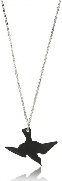 Dior Homme Long Metal Lacquer Bird Pendant Necklace - Lyst
