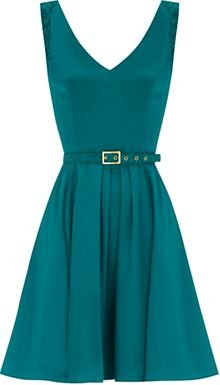 Oasis Oasis Suzie Lace Dress Deep Green - Lyst