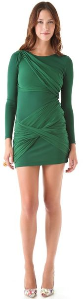 Alice + Olivia Long Sleeve Goddess Dress - Lyst