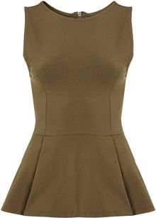 Topshop Sleeveless Peplum Top - Lyst