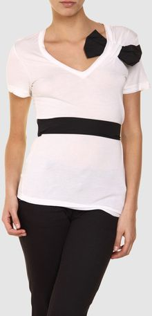 RED Valentino Short Sleeve Sweater - Lyst