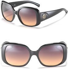 Tory Burch Cat Eye Sunglasses with Logo - Lyst
