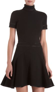 Givenchy Slim Punto Milano Flare Dress - Lyst