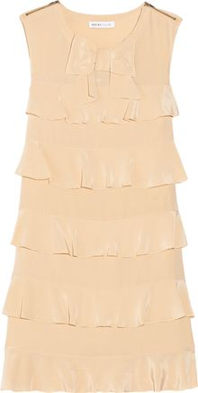 See By Chloé Ruffled Silkcrepe Dress - Lyst